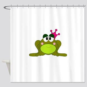 Frog Princess Pink Crown Small Shower Curtain