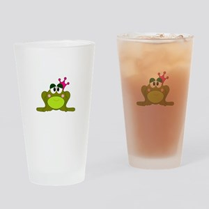 Frog Princess Pink Crown Small Drinking Glass