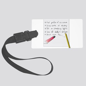 To Do List... Large Luggage Tag