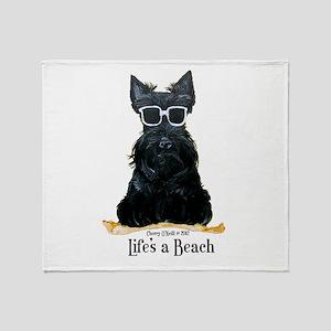 Scottie Beach Throw Blanket