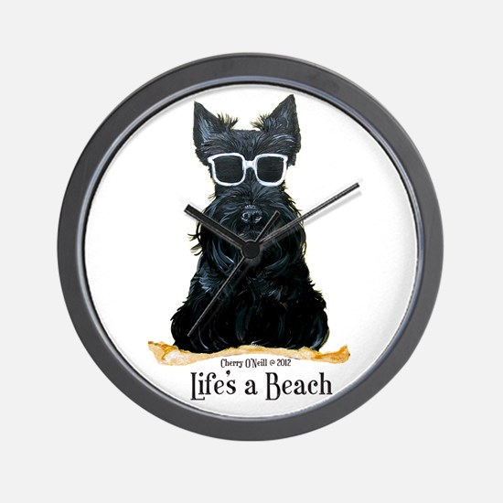 Scottie Beach Wall Clock