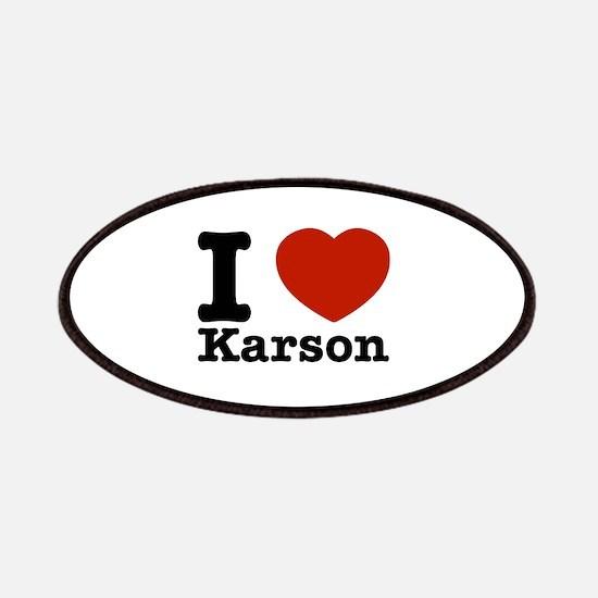 I Love Karson Patches