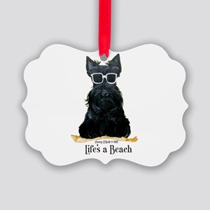 Scottie Beach Picture Ornament