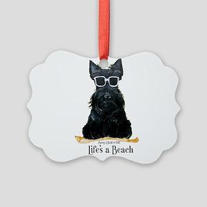 Scottie Beach Picture Ornament