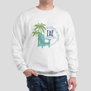 Sigma Alpha Epsilon Beach Personalized Sweatshirt