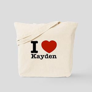 I Love Kayden Tote Bag