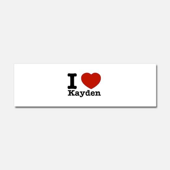 I Love Kayden Car Magnet 10 x 3