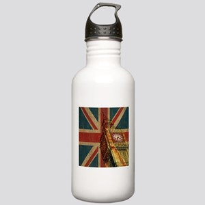 Vintage Union Jack Stainless Water Bottle 1.0L