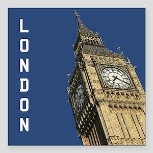 "London Big Ben Square Car Magnet 3"" x 3"""