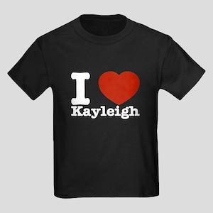 I Love Kayleigh Kids Dark T-Shirt