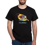 Funny cartoon fish Black T-Shirt