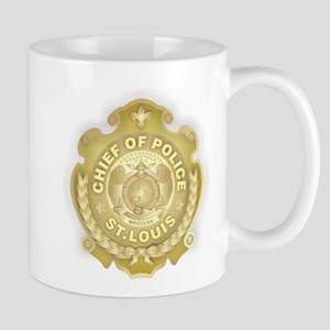 Chief of Police 3d Metallic Mug