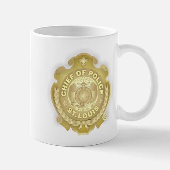 Chief of Police 3d Metallic Mug