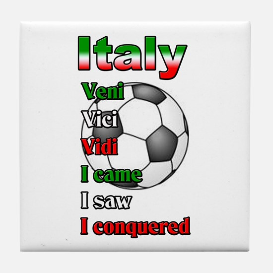 Italy World Soccer Champions Tile Coaster