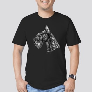 Giant Schnauzer Head Profile Men's Fitted T-Shirt