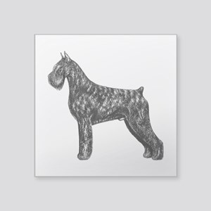 Giant Schnauzer Standing Profile Square Sticker 3&