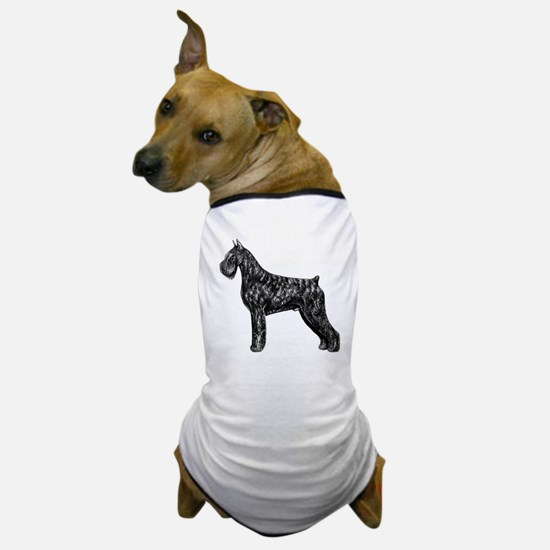 Giant Schnauzer Standing Profile Dog T-Shirt