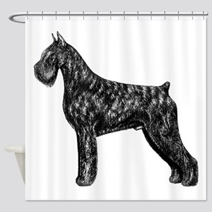 Giant Schnauzer Standing Profile Shower Curtain