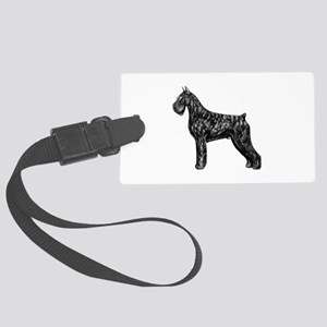 Giant Schnauzer Standing Profile Large Luggage Tag