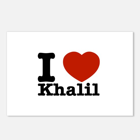 I Love Khalil Postcards (Package of 8)