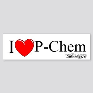 I Love P-Chem Bumper Sticker