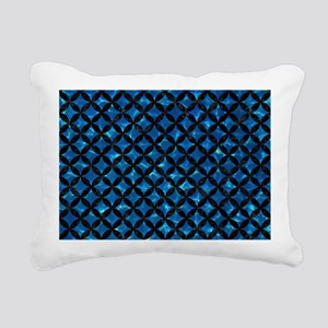 CIRCLES3 BLACK MARBLE & Rectangular Canvas Pillow