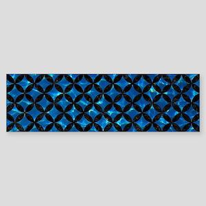 CIRCLES3 BLACK MARBLE & DEEP BLUE Sticker (Bumper)