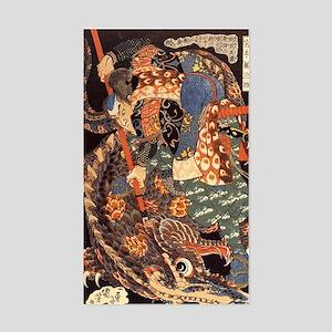Miyamoto Musashi Fights Nue Rectangle Sticker
