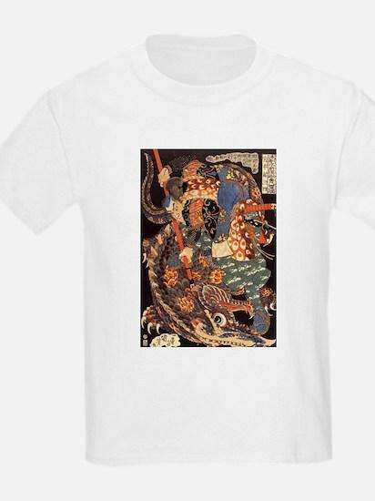 Miyamoto Musashi Fights Nue Kids T-Shirt