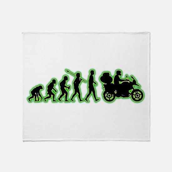 Motorcycle Traveller Throw Blanket