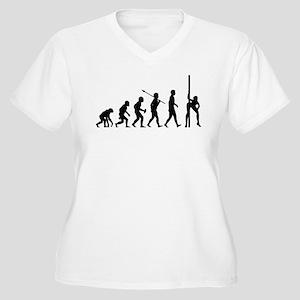 Pole Dancing Women's Plus Size V-Neck T-Shirt