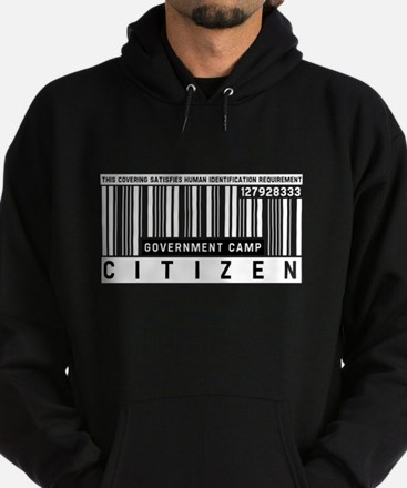 Government Camp, Citizen Barcode, Hoodie (dark)