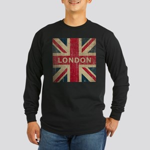Vintage London Long Sleeve Dark T-Shirt
