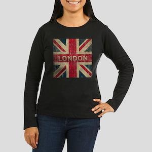 Vintage London Women's Long Sleeve Dark T-Shirt