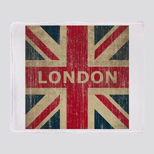 Vintage London Throw Blanket