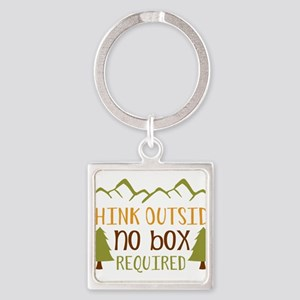 Think Outside No Box Required Keychains