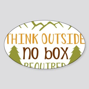 Think Outside No Box Required Sticker