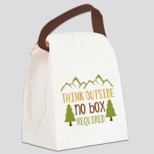 Think Outside No Box Required Canvas Lunch Bag