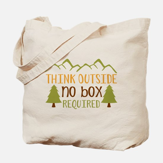 Think Outside No Box Required Tote Bag