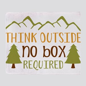 Think Outside No Box Required Throw Blanket
