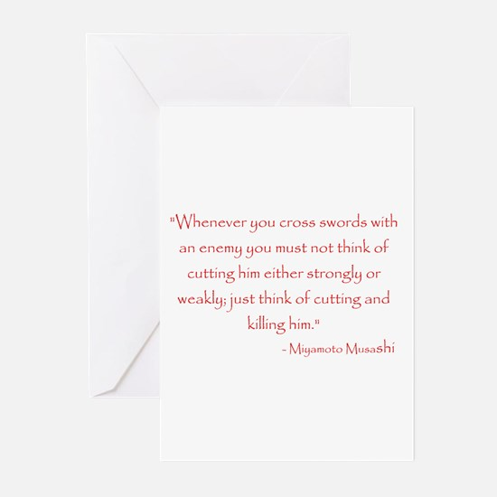 Miyamoto Musashi Quote Greeting Cards (Package of