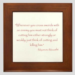 Miyamoto Musashi Quote Framed Tile