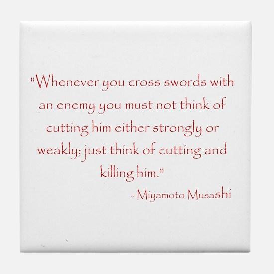 Miyamoto Musashi Quote Tile Coaster