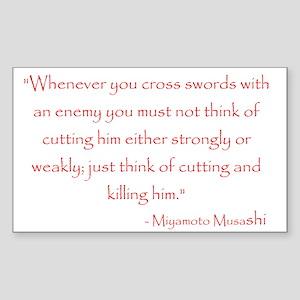 Miyamoto Musashi Quote Rectangle Sticker