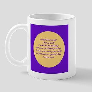 Good Morning from God Mug