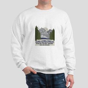 Sigma Alpha Epsilon Mountains Personali Sweatshirt
