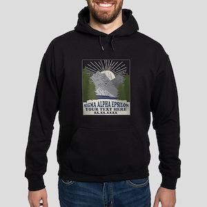Sigma Alpha Epsilon Mountains Person Hoodie (dark)