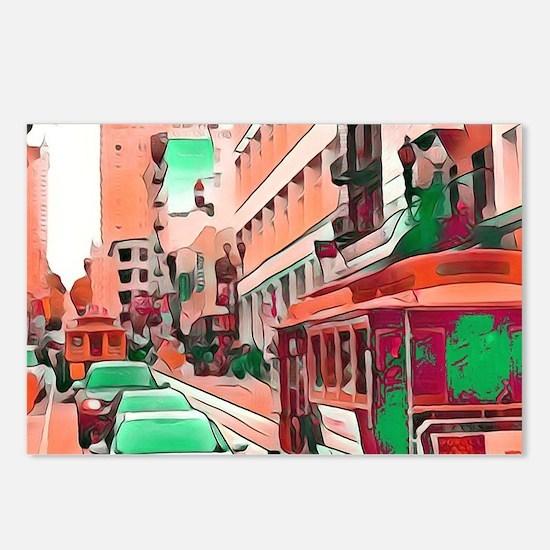 San Francisco-Impressive Postcards (Package of 8)