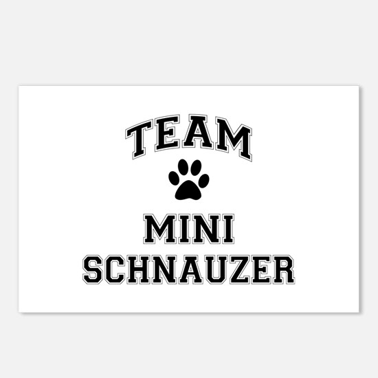 Team Mini Schnauzer Postcards (Package of 8)