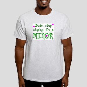 I'm a minor Ash Grey T-Shirt
